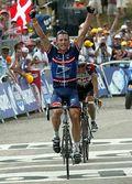 20040717, Lance Armstrong winning at Plateau de Beille