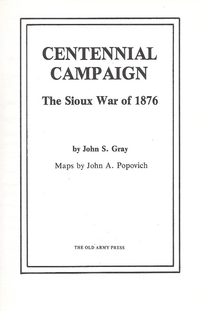 John S. Gray, Centennial Campaign (1976)