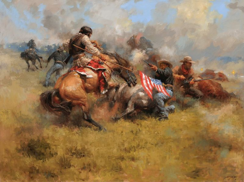 Andy Thomas, Yellow Nose Counts Coup at Little Bighorn
